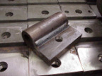 production weldment dock plate hinge